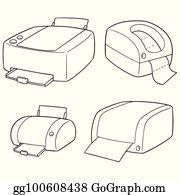 vector stock vector of printer clipart illustration gg102350117 gograph vector of printer clipart illustration