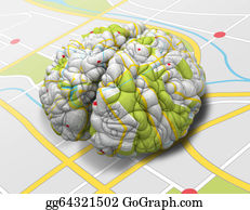 Stock Illustrationen Verstand Landkarte Gehirn Perspektive