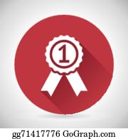 vector clipart we are number 1 golden trophy award on shiny star