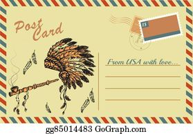 Vector Clipart - Traditional native american peace pipe and