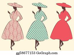 Royalty Free 50S Woman Clip Art - GoGraph
