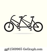 Tandem Bicycle Clip Art - Royalty Free - GoGraph