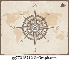 Vector stock vintage nautical compass old world map on vector vintagenauticalcompassoldmapvectorpapertextureeps gumiabroncs Images