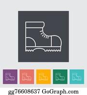 Hiking Shoes Clipart Lizenzfrei GoGraph