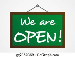 We Are Open Clip Art Royalty Free Gograph