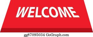 Welcome Mat Clip Art - Royalty Free - GoGraph