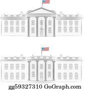 Vector Stock The White House In Washington D C Stock