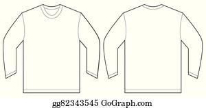 Vector Illustration - Men long sleeve polo shirt. . Stock Clip Art ...