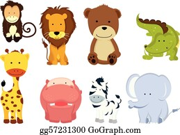zoo animals clipart - Free Large Images | Animal clipart, Cute animal  clipart, Animal clipart free