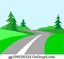 Country Road Clip Art - Royalty Free - GoGraph