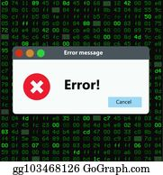 Vector Stock - Error massage warning window  Stock Clip Art