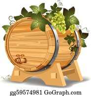 Wine Barrel Clip Art - Royalty Free - GoGraph