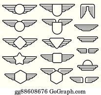 Pilot Wings Clip Art - Royalty Free - GoGraph