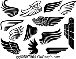 Vector Art Wings Clipart Drawing Gg55438135 Gograph