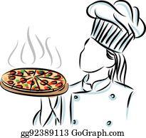 Pizza clipart Pizza Party clip art DYI Pizza graphics Pizza (652417) |  Illustrations | Design Bundles