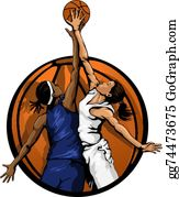 Girls Basketball Cliparts - Female Basketball Player Png , Free Transparent  Clipart - ClipartKey