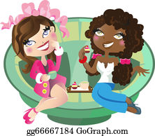 Friends Having Coffee Clip Art - Royalty Free - GoGraph