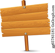 Wood signage. Sign clip art royalty