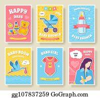 Vector Art World Breastfeeding Week Cards Kids Elements Of