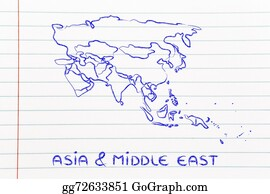 Stock illustration world map and continents borders and states of world map and continents borders and states of asia and middle gumiabroncs Images
