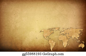 Drawing vintage map of the world clipart drawing gg59860874 gograph travel grunge background world map vintage artwork perfect background with space for text or image gumiabroncs Gallery