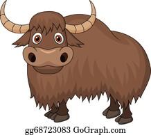 Vector Cartoon Animal Clipart Yak Stock Vector (Royalty Free) 1184982661