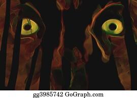 Dark eyes stock illustrations royalty free gograph - Scary yellow eyes ...