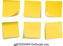 Free Vector Yellow Post-it Notes with Push Pin | Post it notes, Free vector  art, Free stationery