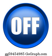 Stock Illustration - Turn on off button  Clipart Drawing