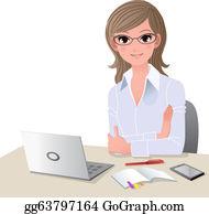 Woman Laptop Clip Art - Royalty Free - GoGraph